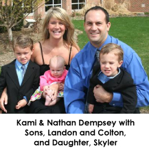 Kami and Nathan Dempsey family