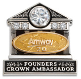 founders crown ambassador pin